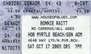 October 17, 2009 - House of Blues, Myrtle Beach