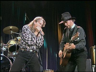 Norton Buffalo (left) and Roy Rogers. Frame grab from Sierra Center Stage TV concert Series sponsored by Sierra Nevada Brewing Company. 2004