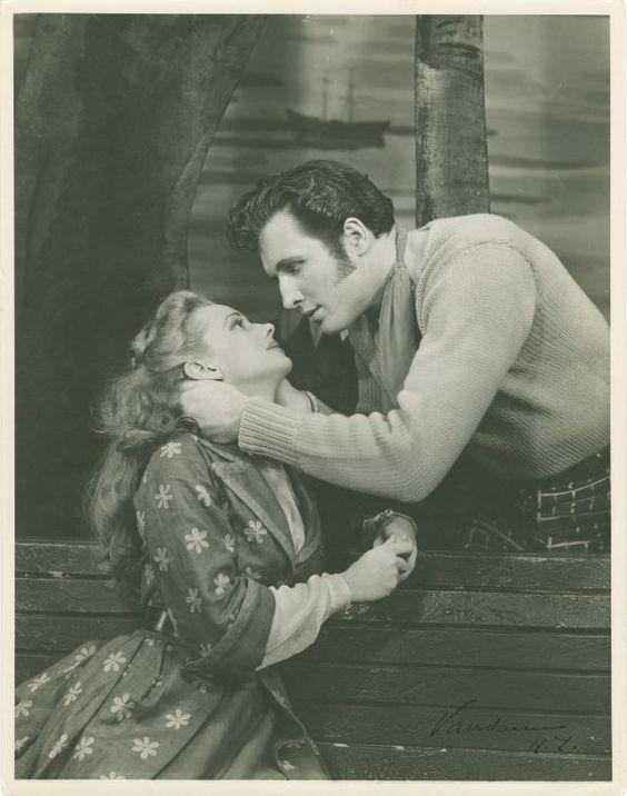 Jan Clayton (Julie Jordan) and John Raitt (Billy Bigelow) in Carousel (1945)