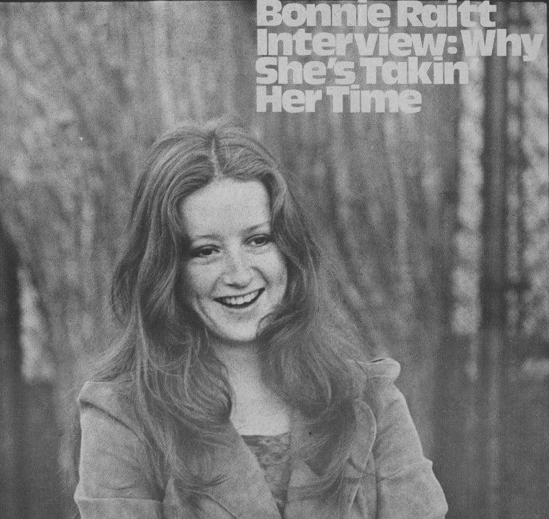 Bonnie Raitt Interview, The Real Paper/Ear Book, Oct. 24, 1973 © Jeff Albertson