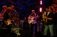 Randall Bramblett jams with Bonnie Raitt and her band at Ovens Auditorium in Charlotte, NC March, 8 2006. © Rick Booth