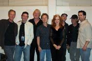 Randall Bramblett, his band and crew pose for photos on the last night of the Southeastern Tour with Bonnie Raitt. What a show! What a tour! Thanks Bonnie from all of us!!! Ovens Auditorium, March 8, 2006 © Rick Booth