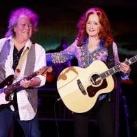 Bonnie Raitt laughed with guitarist George Marinelli during a performance Wednesday at Rupp Arena in Lexington 2-27-2019  © Alex Slitz aslitz@herald-leader.com
