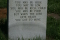 Back of Mississippi Fred McDowell's head stone.Lyrics to his best known song, also covered by the Rolling Stones.